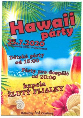 Hawaii párty - 25. července 2020