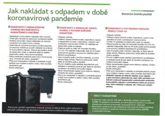 Jak nakládat s odpadem v době koronavirové pandemie