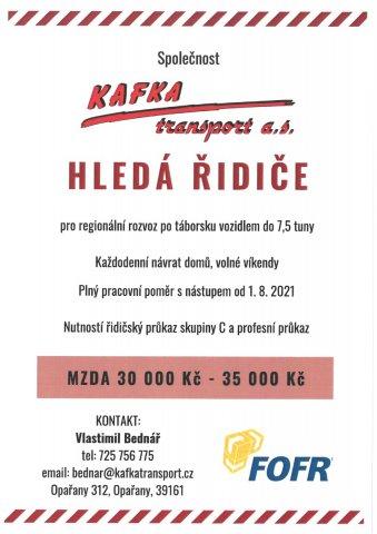 Nabídka zaměstnání - KAFKA transport
