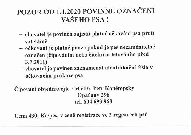 Povinné označené psů od 1. ledna 2020