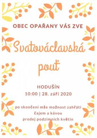 Svatováclavská pouť - Hodušín - 18. září 2020
