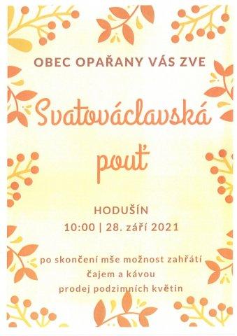 Svatováclavská pouť v Hodušíně - 28. září 2021